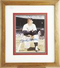 Autographs:Photos, Mickey Mantle Signed Photograph. This classic shot of the Mickrates high in the category of visual appeal thanks to the ex...