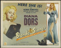 "Movie Posters:Bad Girl, Blonde Sinner (Allied Artists, 1956). Half Sheet (22"" X 28"") StyleA. Bad Girl. ..."