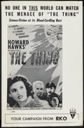 "Movie Posters:Science Fiction, The Thing From Another World (RKO, R-1957). Pressbooks (2) (4Pages, 10.5"" X 17""). Science Fiction. ... (Total: 2 Items)"