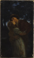 Fine Art - Painting, European, WILLIAM A. BREAKSPEARE (British 1855-1914). Nocturnal Seductions. Oil on canvas. 17-1/2 x 10 inches (44.5 x 25.4 cm). Si...
