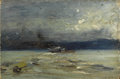 Fine Art - Painting, American:Antique  (Pre 1900), Attributed to ROBERT (COZAD) HENRI (American 1865-1929). On theHudson River, circa 1900. Oil on artists' board. 5-1/4 x...