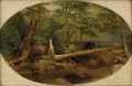 Fine Art - Painting, American:Antique  (Pre 1900), WILLIAM HOLBROOK BEARD (American 1824-1900). Bear in theForest, 1868. Oil on canvas. 11 x 17 inches (27.9 x 43.2 cm).S...