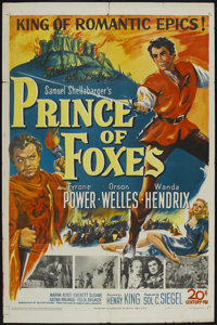 "Prince of Foxes (20th Century Fox, 1949). One Sheet (27"" X 41""). Adventure"