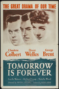 """Movie Posters:Drama, Tomorrow Is Forever (Independent Releasing, R-1953). One Sheet (27"""" X 41""""). Drama. ..."""