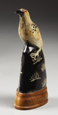 Texas, ARTIST UNKNOWN. Horn Carving of Bird. 7 x 2 x 3 inches (17.8x 5.1 x 7.6 cm). Unsigned. ...