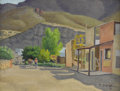 Texas:Early Texas Art - Regionalists, FRED DARGE (1900-1978). Early Morning Shafter Texas. Oil oncanvasboard. 9 x 12 inches (22.9 x 30.5 cm). Signed lower ri...