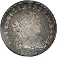 1798 $1 Large Eagle, Wide Date XF45 PCGS....(PCGS# 6877)