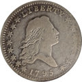 Early Half Dollars, 1795 50C 2 Leaves Fine 12 NGC....