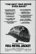 "Movie Posters:War, Full Metal Jacket (Warner Brothers, 1987). Review One Sheet (27"" X41""). War. ..."