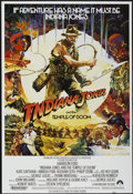 "Movie Posters:Adventure, Indiana Jones and the Temple of Doom Lot (Paramount, 1984). BritishOne Sheet (27"" X 40"") and American Mini-Poster (16"" X 23... (Total:2 Items)"