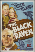 "Movie Posters:Mystery, The Black Raven (PRC, 1943). One Sheet (27"" X 41""). Mystery...."