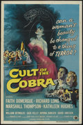 """Movie Posters:Horror, Cult of the Cobra (Universal International, 1955). One Sheet (27"""" X 41""""). Horror. ..."""