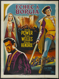 "Prince of Foxes (20th Century Fox, 1949). French Grande (47"" X 63"") Style B. Adventure"