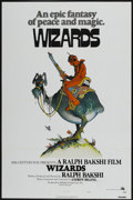 "Movie Posters:Animated, Wizards (20th Century Fox, 1977). One Sheet (27"" X 41"") Tri-Folded Style A. Animated. ..."