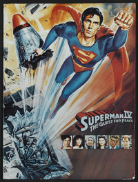 Superman IV: The Quest for Peace Lot (Warner Brothers, 1987). Presskit (4 Stills) and another Christopher Reeve One Shee...