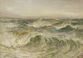 Fine Art - Painting, European:Antique  (Pre 1900), JOHN FALCONE SLATER (British 1857-1940). Raging Sea, 1911. Oil on panel. 26 x 35-1/2 inches (66.0 x 90.2 cm). Signed low...