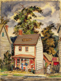 Texas:Early Texas Art - Regionalists, LLOYD GOFF (1908-1982). Lark Barber Shop, late 1930s toearly 1940s. Oil on paper. 21 x 15-3/4 inches (53.3 x 40.0 cm). ...