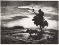 THOMAS HART BENTON (1889-1975) Sunset, 1941 Lithograph on paper 10 x 13 inches (25.4 x 33.0 cm)