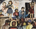 Texas:Early Texas Art - Regionalists, KELLY FEARING (b. 1918). Sideshow, 1939. Watercolor onpaper. 16 x 20 inches (40.6 x 50.8 cm). Signed and dated lowerle...