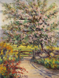 Texas:Early Texas Art - Impressionists, EMMA DILLARD (1879-1968). The Gate. Oil on canvasboard. 10 x7-1/2 inches (25.4 x 19.1 cm). Signed lower left. ...
