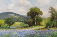 ROBERT WOOD (1889-1979) Boerne Hills, 1954 Oil on canvas 28 x 42 inches (71.1 x 106.7 cm) Sign