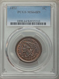 1852 1C MS64 Brown PCGS. PCGS Population: (218/151). NGC Census: (163/173). MS64. Mintage 5,063,094