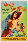 """Movie Posters:Adventure, Virgin Sacrifice (Releasing Corporation of Independent Producers, 1959). One Sheet (27"""" X 41""""). Adventure.. ..."""