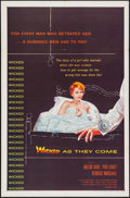 "Movie Posters:Bad Girl, Wicked as They Come (Columbia, 1956). One Sheet (27"" X 41""). BadGirl.. ..."