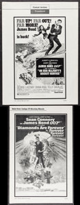"Movie Posters:James Bond, On Her Majesty's Secret Service & Other Lot (United Artists,1970). Uncut Pressbooks (2) Multiple Pages, 11"" X 17"", 13"" X 18...(Total: 2 Items)"