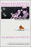 "Movie Posters:Crime, Bonnie and Clyde (Warner Brothers-Seven Arts, 1967). Folded, Very Fine-. One Sheet (27"" X 41""). Crime...."