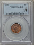 Indian Cents, 1881 1C MS64 Red and Brown PCGS. Eagle Eye Photo Seal. PCGS Population: (373/118). NGC Census: (175/135). CDN: $200 Whsle. ...
