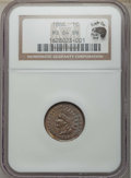 1866 1C MS64 Brown NGC. Eagle Eye Photo Seal. NGC Census: (69/42). PCGS Population: (79/30). MS64. Mintage 9,826,500