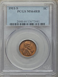 1911-S 1C MS64 Red and Brown PCGS. PCGS Population: (284/87). NGC Census: (123/60). CDN: $450 Whsle. Bid for problem-fre...