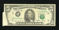 Error Notes:Foldovers, Fr. 1978-L $5 1985 Federal Reserve Note. Fine.. ...