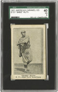 Baseball Cards:Singles (Pre-1930), 1921 American Caramel Co. Babe Ruth E121 SGC 40 VG 3. We offer one of Babe Ruth's earlier baseball cards after his trade to ...