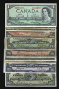 Canadian Currency: , Canada.. ... (Total: 9 notes)