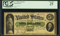 Large Size:Demand Notes, Fr. 3 $5 1861 Demand Note PCGS Very Fine 25.. ...