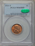1931-S 1C MS65 Red PCGS. CAC. PCGS Population: (867/110). NGC Census: (240/24). CDN: $485 Whsle. Bid for problem-free NG...