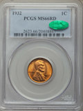 Lincoln Cents: , 1932 1C MS66 Red PCGS. CAC. PCGS Population: (517/38). NGC Census: (192/13). CDN: $180 Whsle. Bid for problem-free NGC/PCGS...