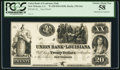 Obsoletes By State:Louisiana, New Orleans, LA- Union Bank of Louisiana $20 as G6a Proof. ...