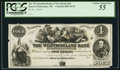 Canadian Currency: , Bend of Petticodiac, NB- Westmorland Bank of New Brunswick $4Proof. ...