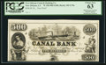 Obsoletes By State:Louisiana, New Orleans, LA- New Orleans Canal & Banking Company $500 as G70a Proof. ...