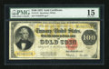 Large Size:Gold Certificates, Fr. 1215 $100 1922 Gold Certificate PMG Choice Fine 15....