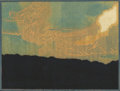 Texas:Early Texas Art - Drawings & Prints, FRANK REDLINGER (1909-1936). Sunset Hollywood Hills, early1930s. Color linoleum block print on Japanese tissue. 8 x 10-...