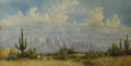 Texas:Early Texas Art - Regionalists, FRANK CHILTON (unknown). Untitled Desert Panorama. Oil on canvas.22 x 42 inches (55.9 x 106.7 cm). Signed lower right. ...