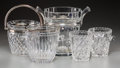 Decorative Arts, Continental:Other , Five Baccarat, Waterford, and Continental Glass Wine Coolers, 20thcentury. Marks: Baccarat; Waterford; (various). 9-3/8...(Total: 5 Items)