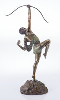 Sculpture, Pierre le Faguays (French, 1892-1935). Diana. Bronze with green patina. 27 inches (68.6 cm) high. Inscribed on base: L...