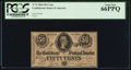 Confederate Notes:1864 Issues, T72 50 Cents 1864 PF-1 Cr. 579.. ...