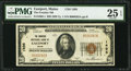National Bank Notes:Maine, Eastport, ME - $20 1929 Ty. 1 The Frontier NB Ch. # 1495. ...