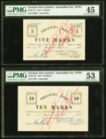 World Currency, German New Guinea Australian Occupation WW1 5; 10; 20; 50 Marks1914 Pick 1b; 2b; 3b; 4b.. ... (Total: 4 notes)